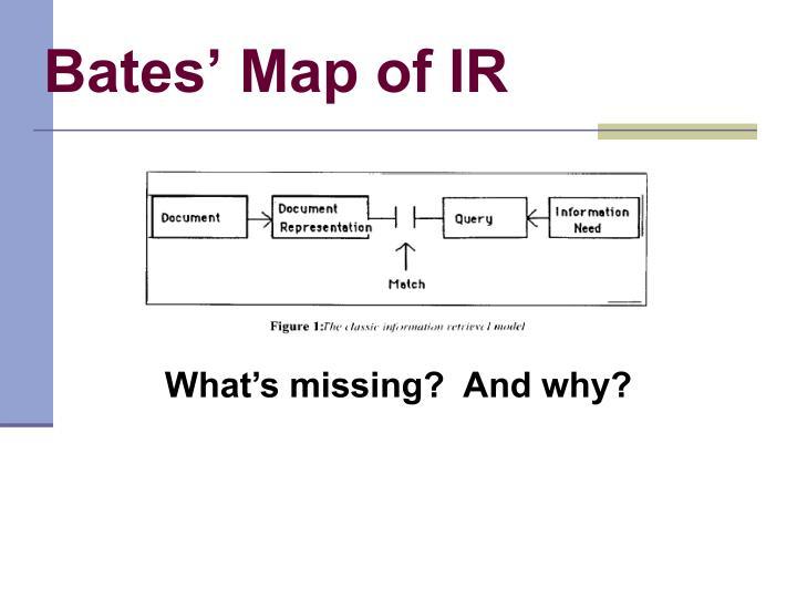 Bates' Map of IR