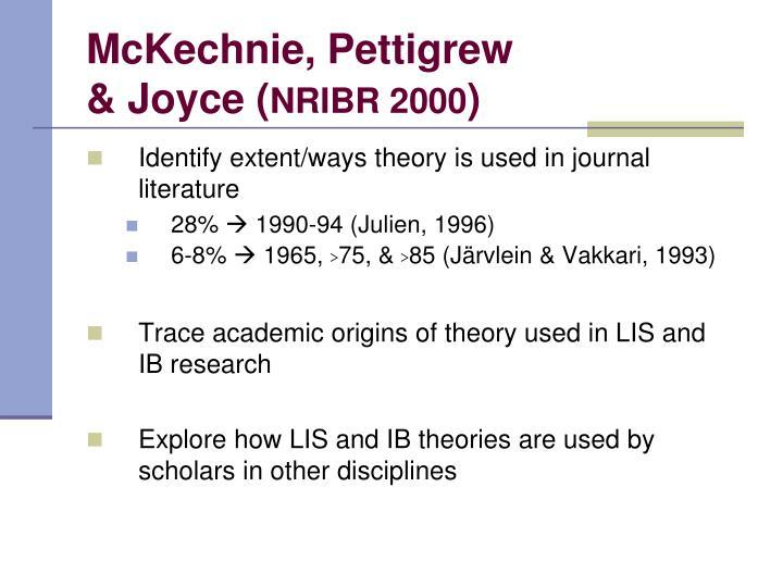 McKechnie, Pettigrew