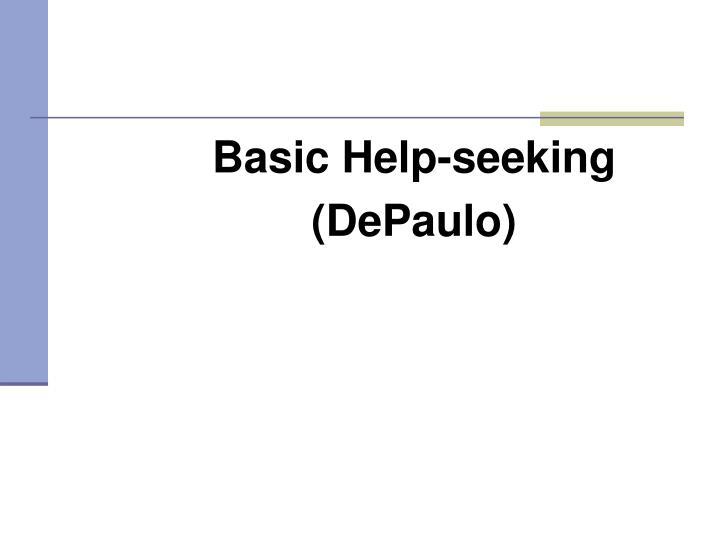 Basic Help-seeking