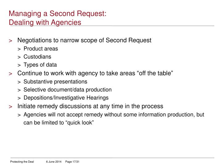 Managing a Second Request: