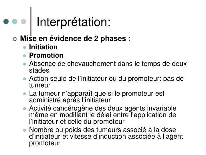 Interprétation: