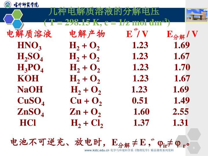 电解质溶液       电解产物