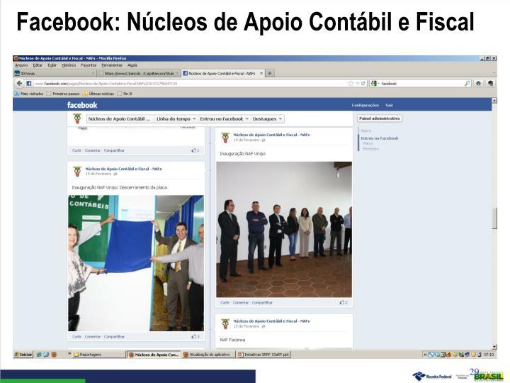 Facebook: Núcleos de Apoio Contábil e Fiscal