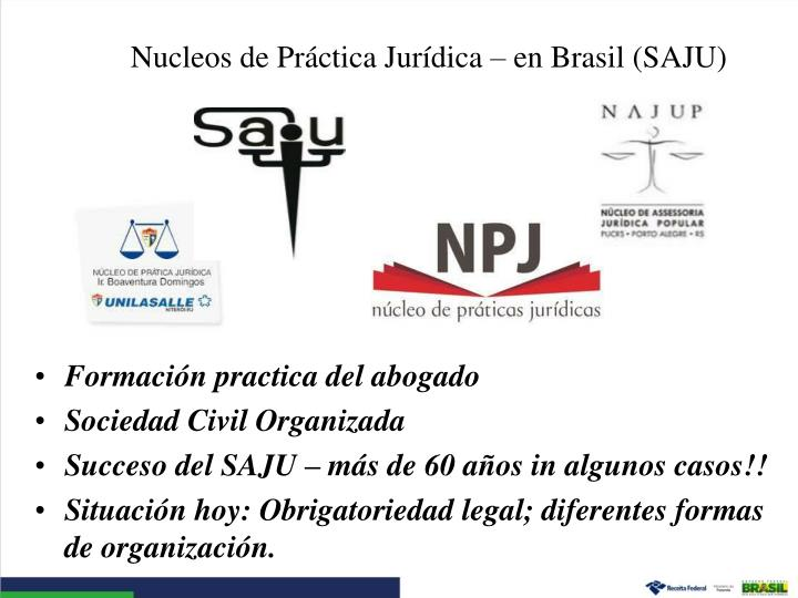 Nucleos de Práctica Jurídica – en Brasil (SAJU)