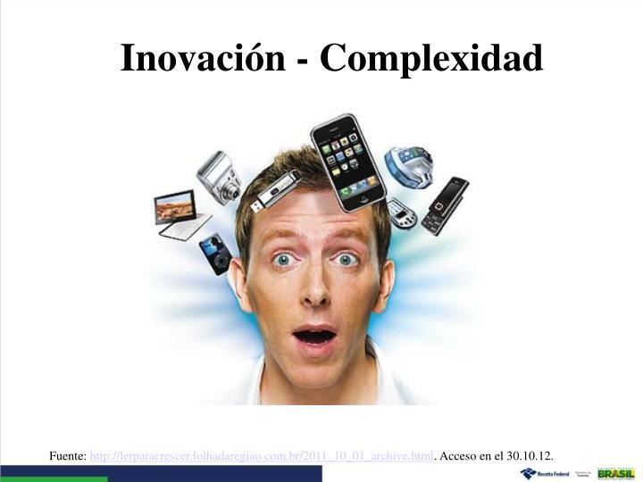 Inovación - Complexidad