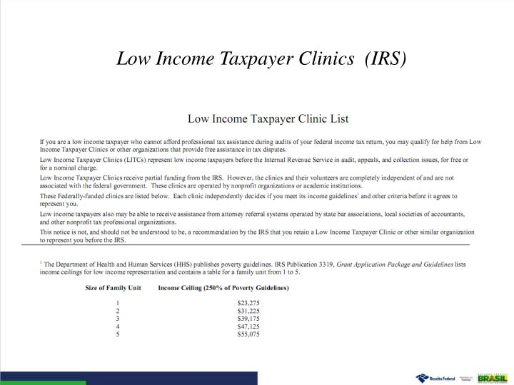 Low Income Taxpayer Clinics  (IRS)