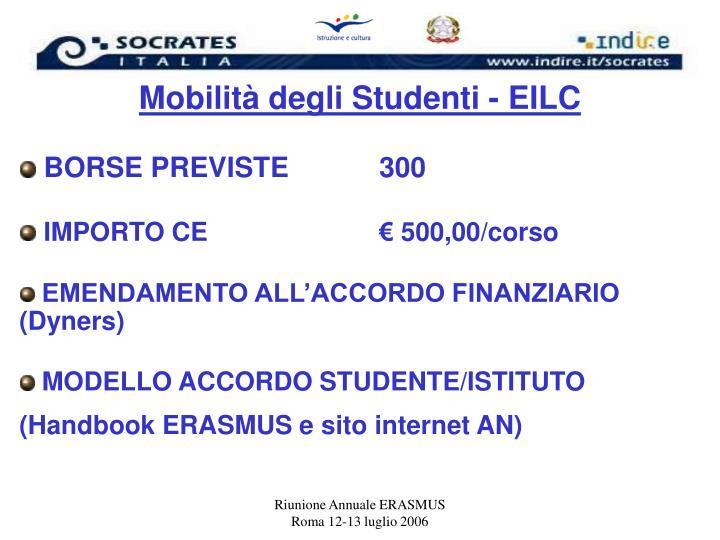Mobilità degli Studenti - EILC