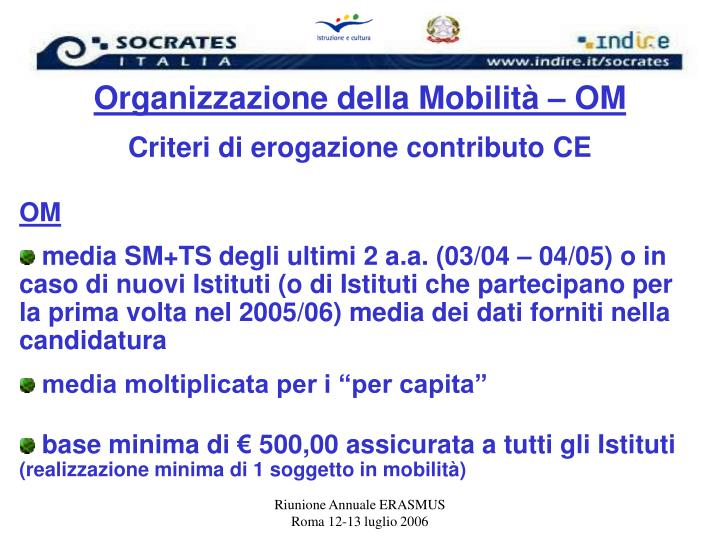 Organizzazione della Mobilità – OM
