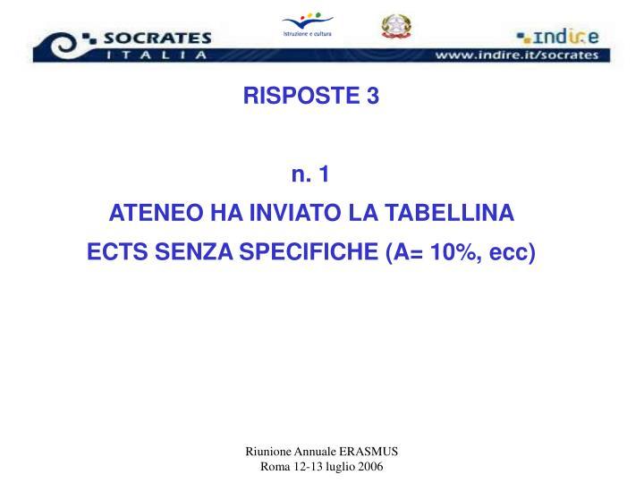 RISPOSTE 3