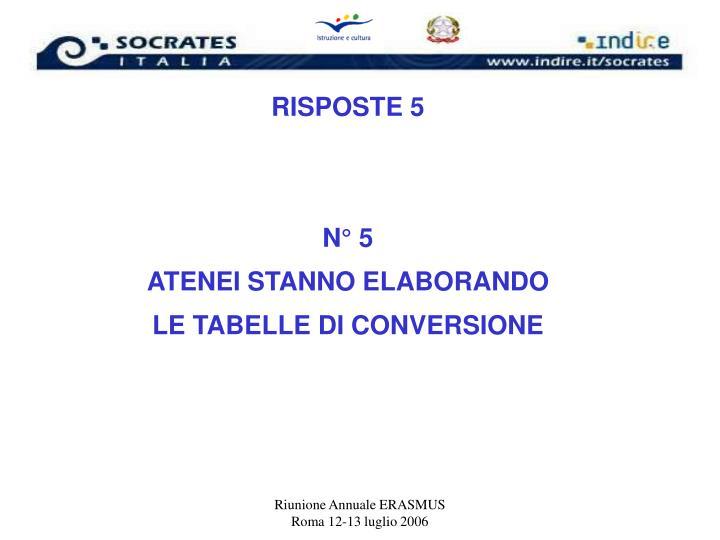 RISPOSTE 5