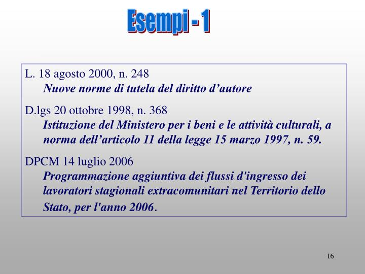 Esempi - 1
