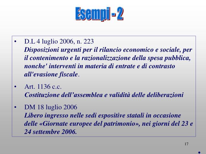 Esempi - 2