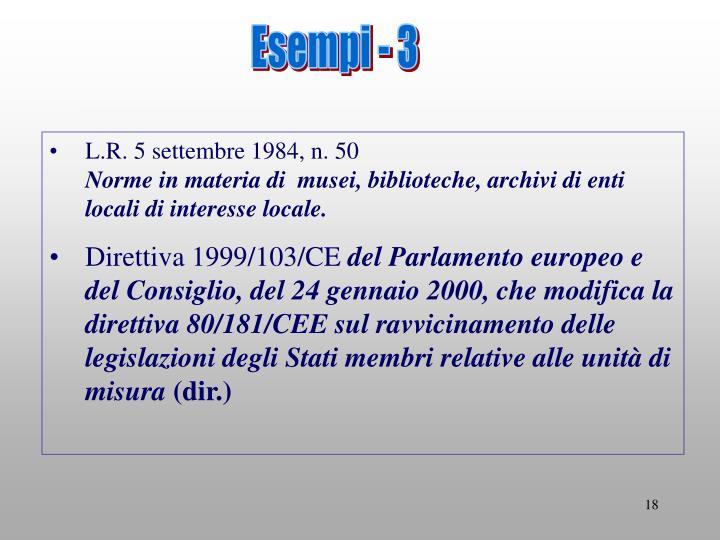 Esempi - 3