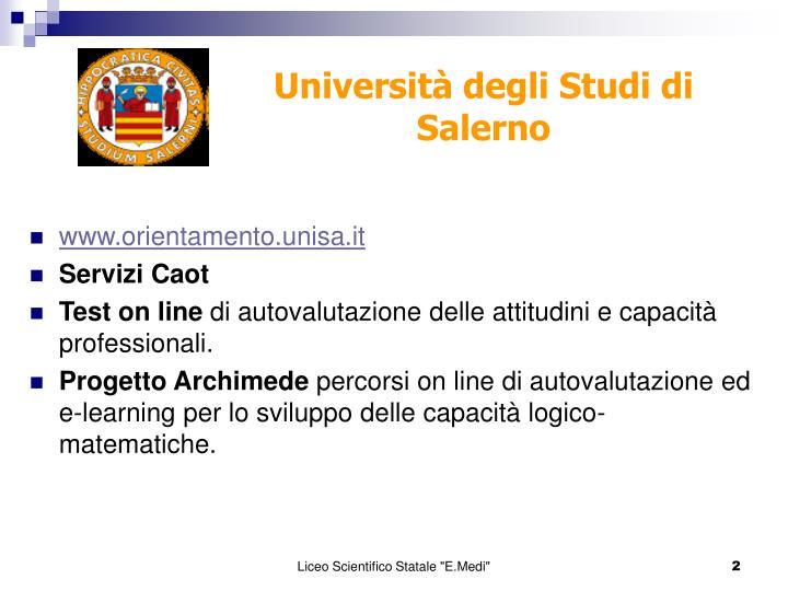 www.orientamento.unisa.it