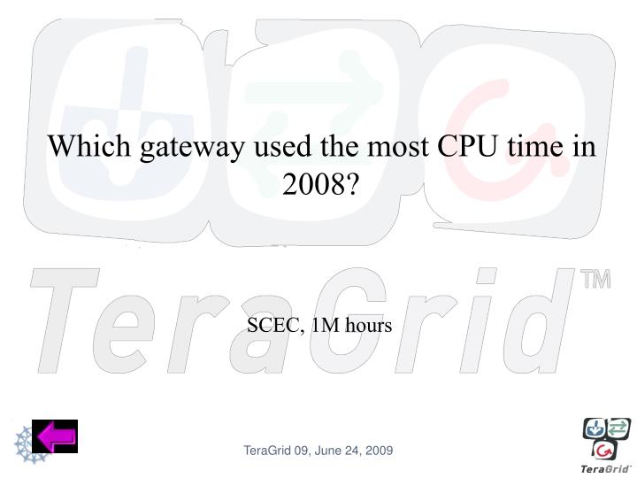 Which gateway used the most CPU time in 2008?