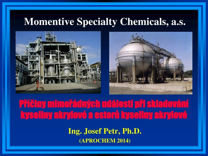 Momentive specialty chemicals a s