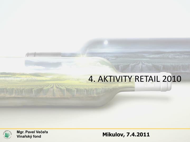 4. AKTIVITY RETAIL 2010