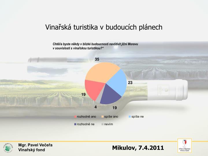 Vinařská turistika v budoucích plánech