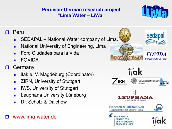 Peruvian-German research project