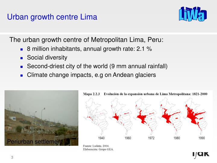 Urban growth centre Lima