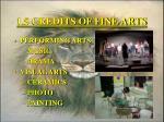 1 5 credits of fine arts