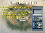 3 math credits