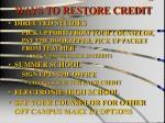 ways to restore credit