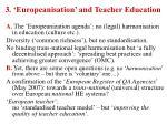 3 europeanisation and teacher education
