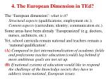 4 the european dimension in ted