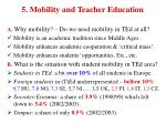 5 mobility and teacher education