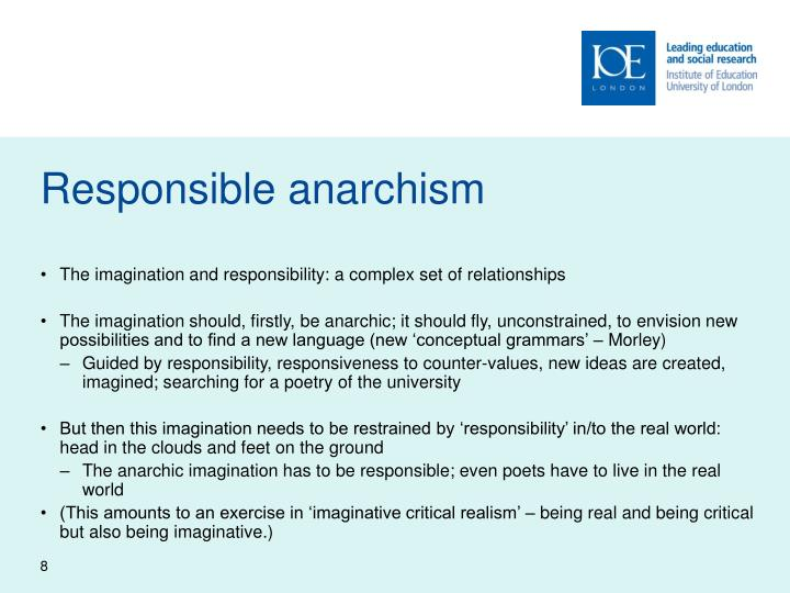 Responsible anarchism