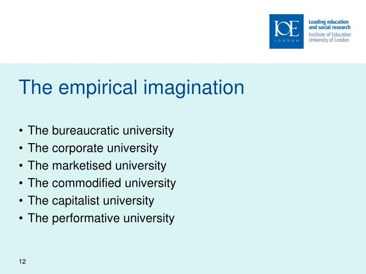 The empirical imagination