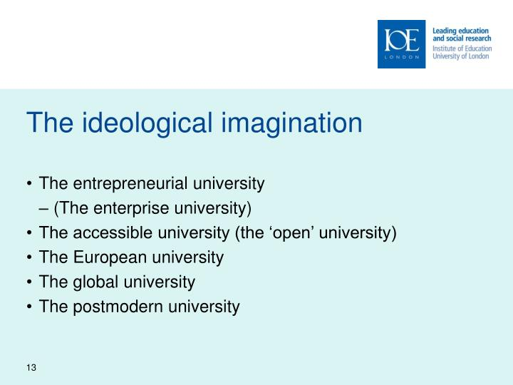 The ideological imagination