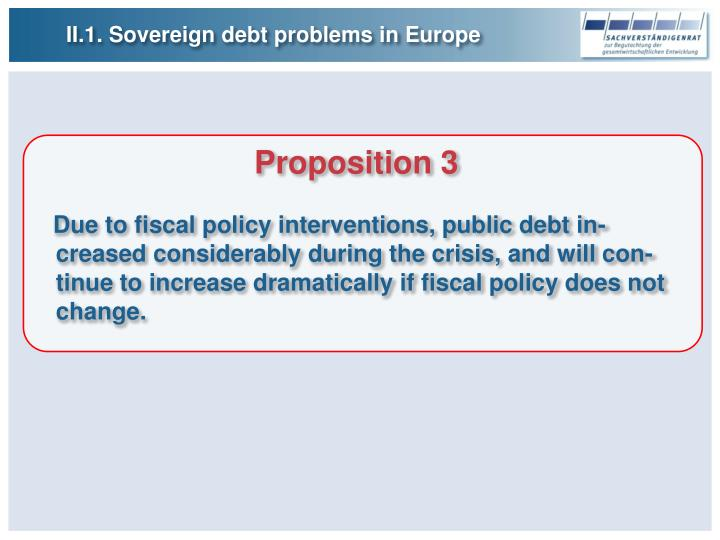II.1. Sovereign debt problems in Europe