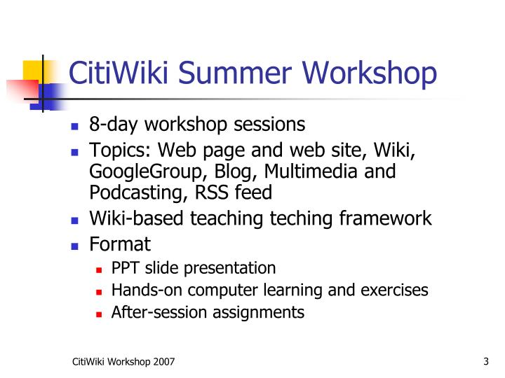 Citiwiki summer workshop1