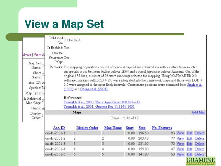 View a Map Set