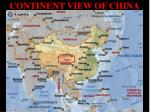continent view of china