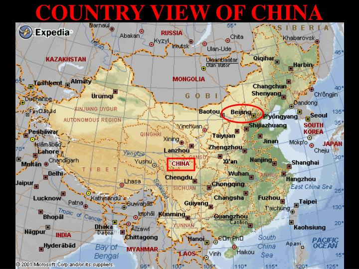 COUNTRY VIEW OF CHINA