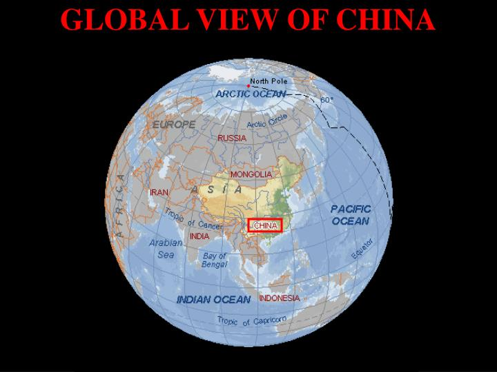 Global view of china