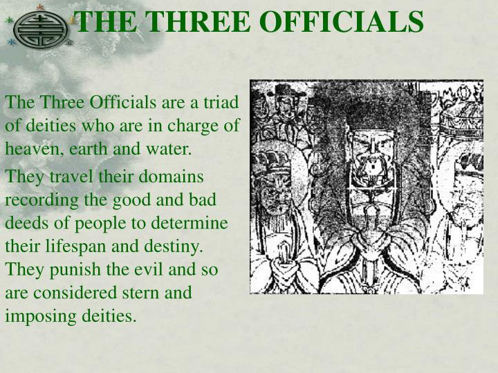 THE THREE OFFICIALS