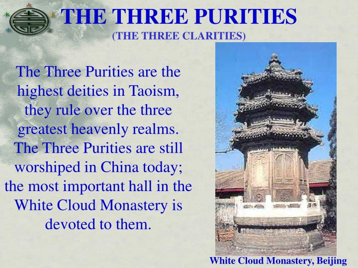 THE THREE PURITIES