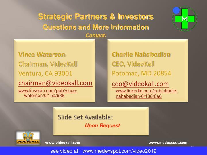 Strategic Partners & Investors
