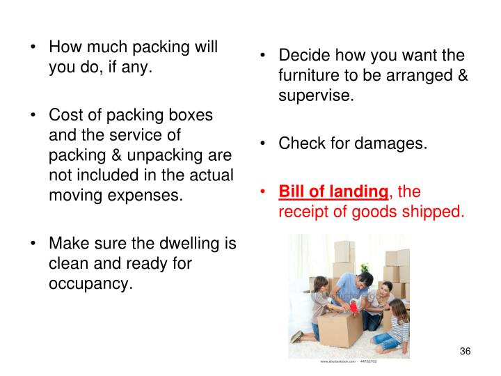 How much packing will you do, if any.