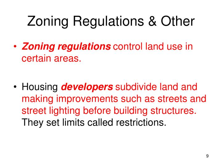 Zoning Regulations & Other