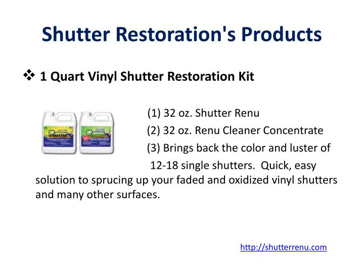 Shutter Restoration's Products