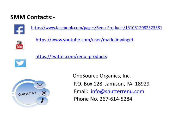 SMM Contacts:-