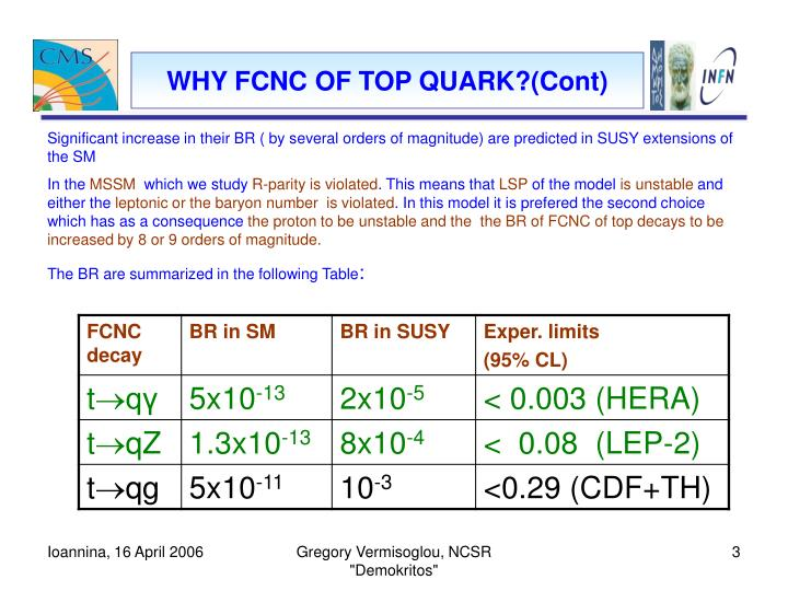 WHY FCNC OF TOP QUARK?(Cont)