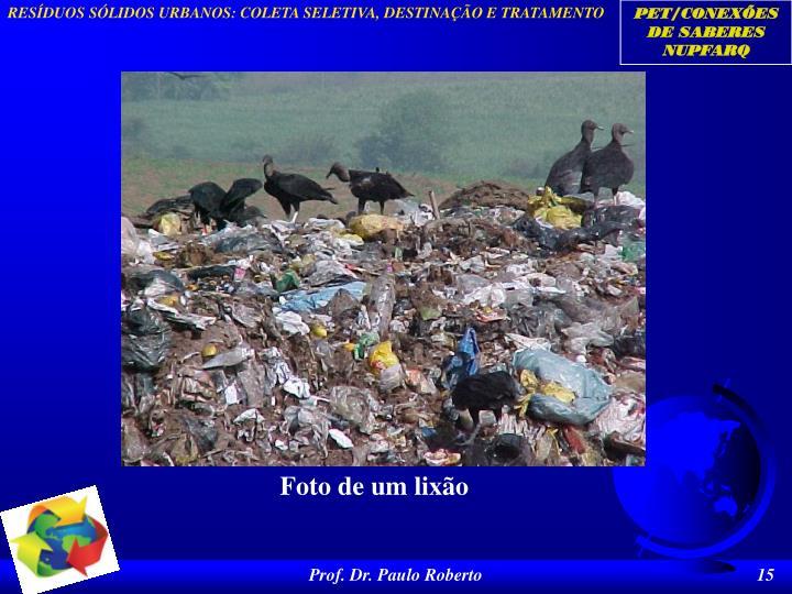 Foto de um lixão