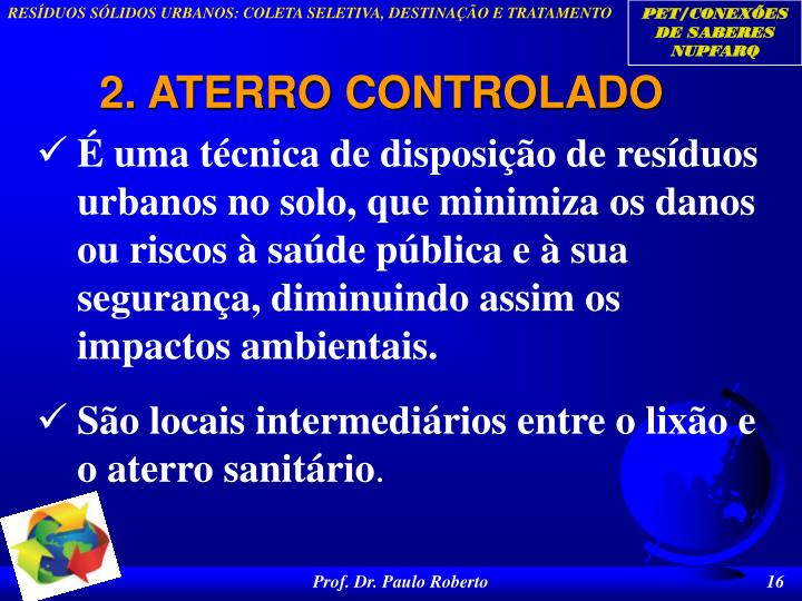 2. ATERRO CONTROLADO