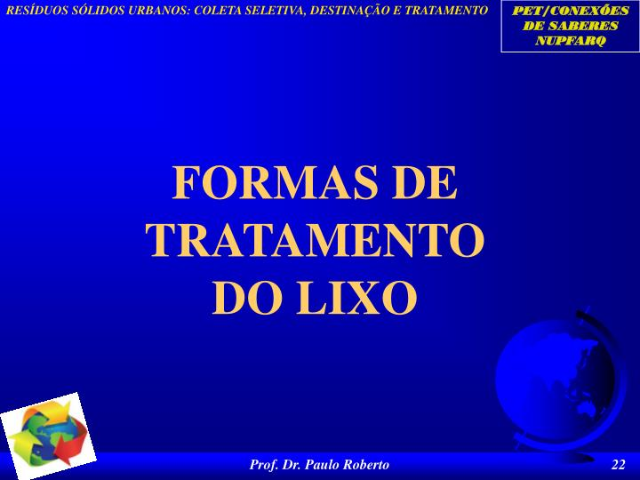 FORMAS DE